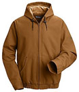 Flame Resistant ComforTouch™ Brown Duck Hooded Jacket
